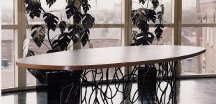 Eet/vergadertafel kunstplant
